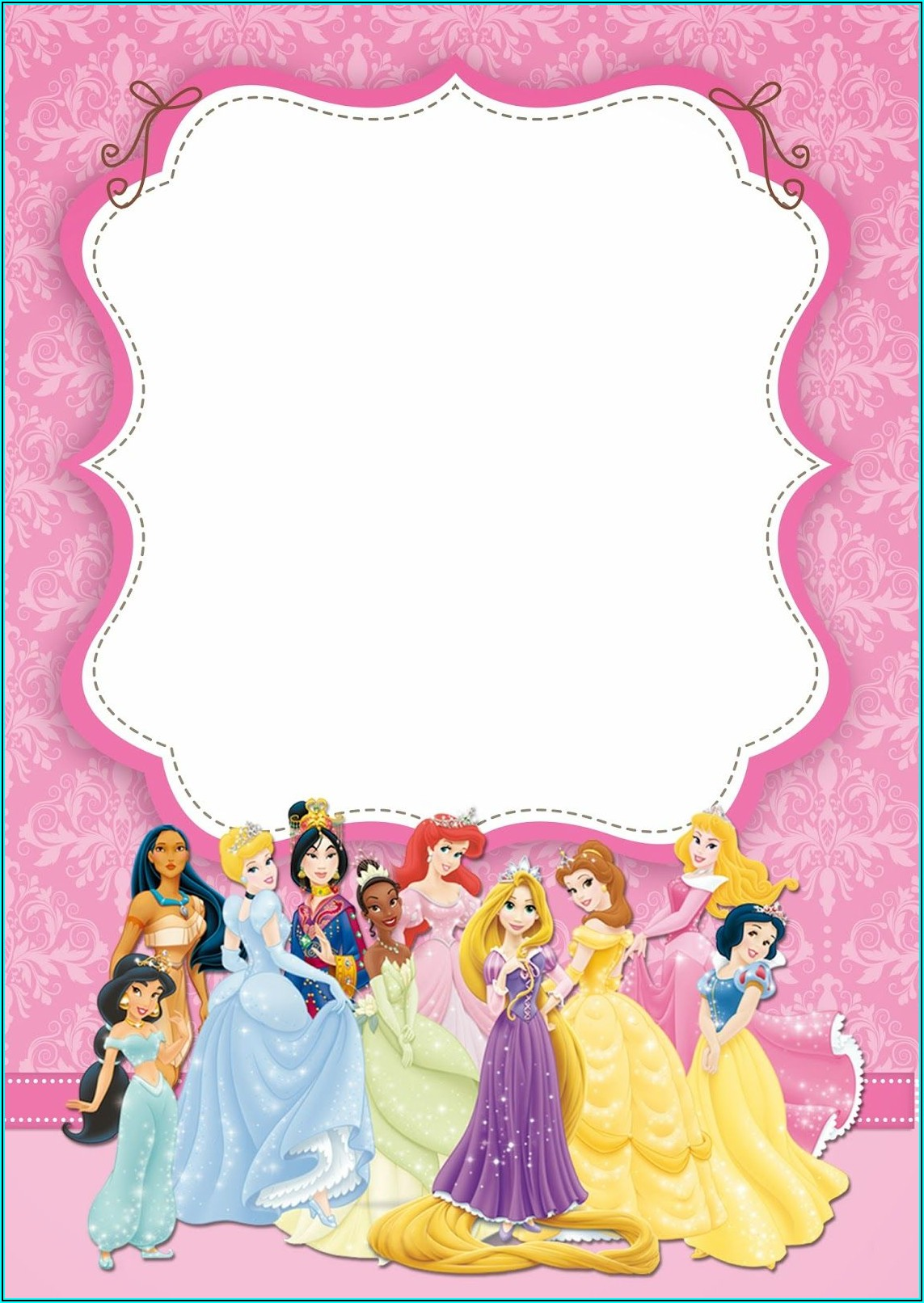 Disney Princess Birthday Invitation Template Free Download