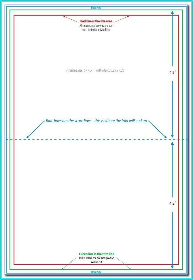 Double Sided Postcard Template Word