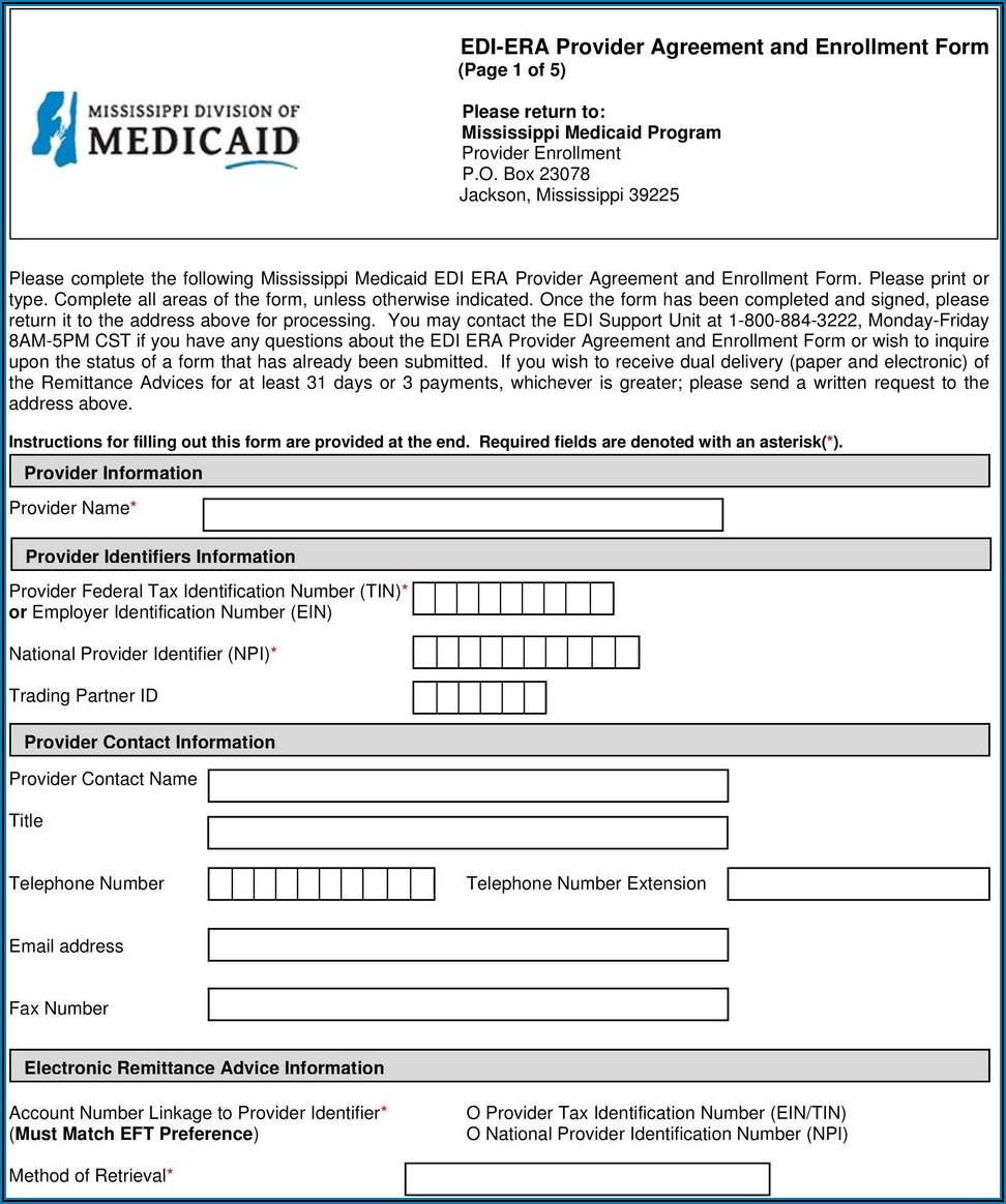 Edi Enrollment Agreement Form