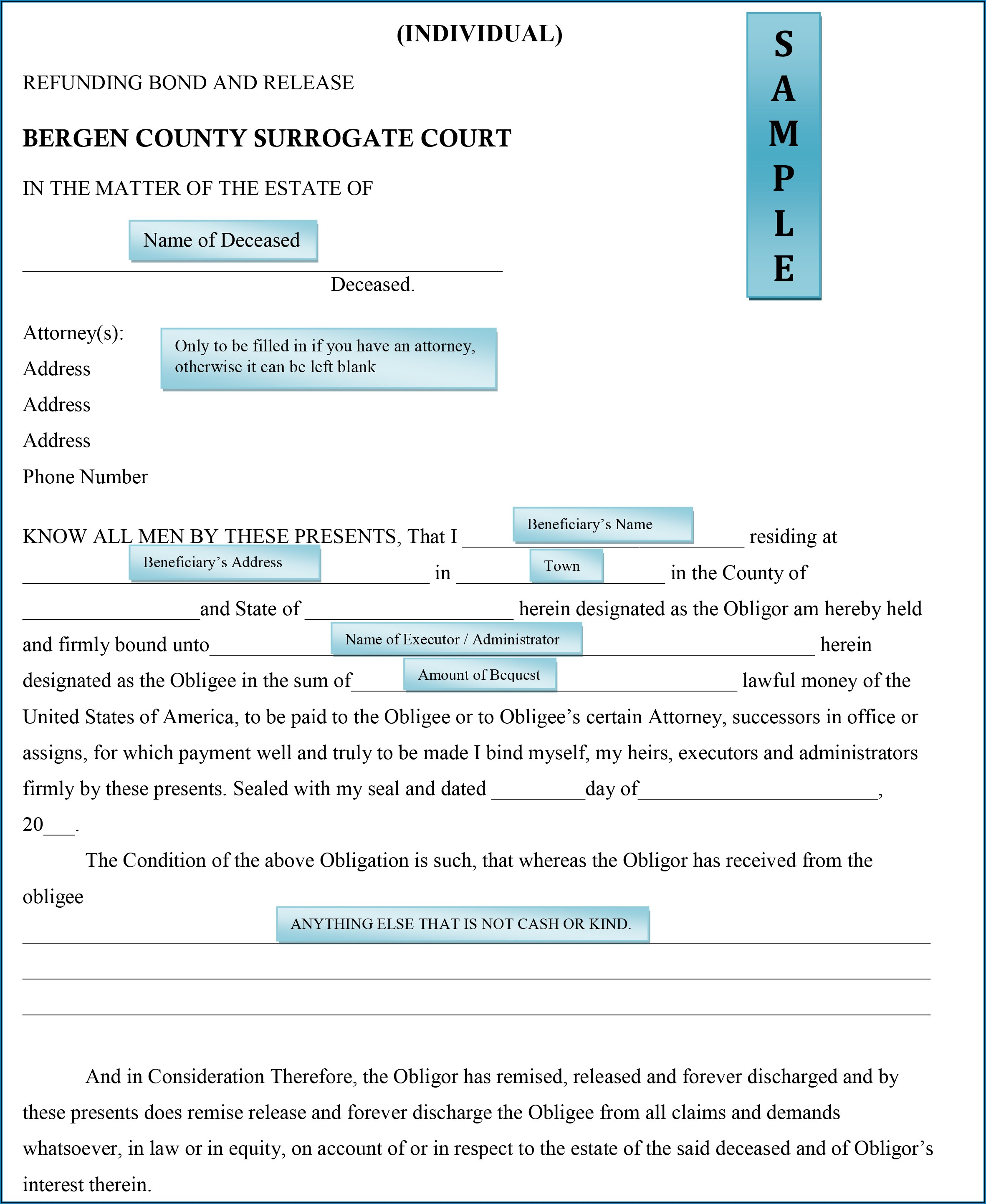 Essex County Surrogate Court Forms