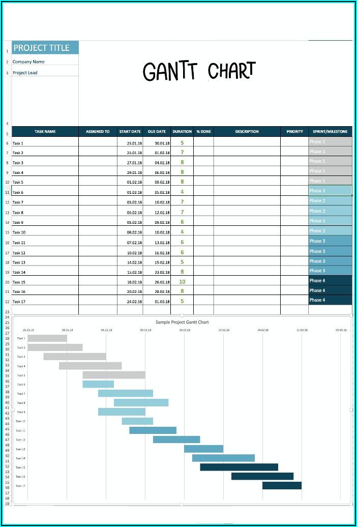 Excel Gantt Chart Template 2019