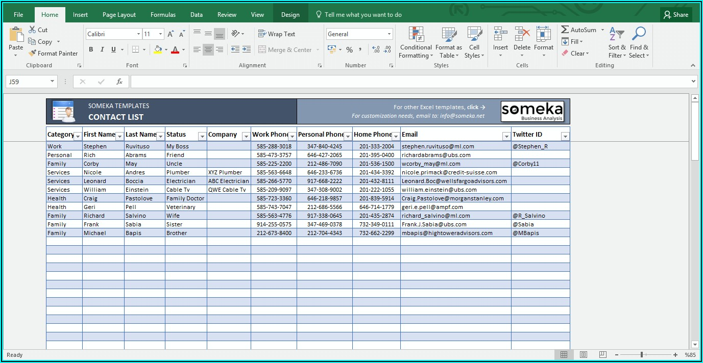 Excel Sheet Templates