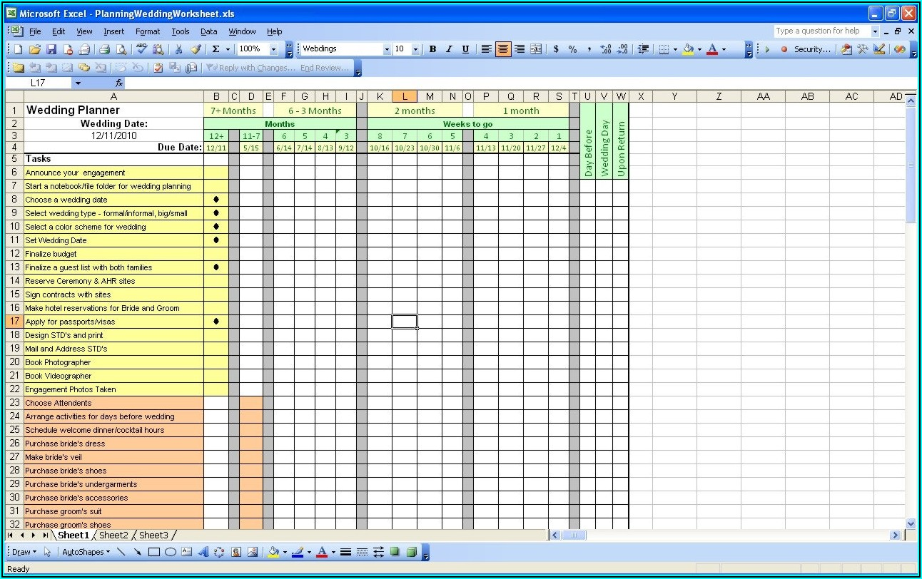 Excel Spreadsheet Template For Event Planning