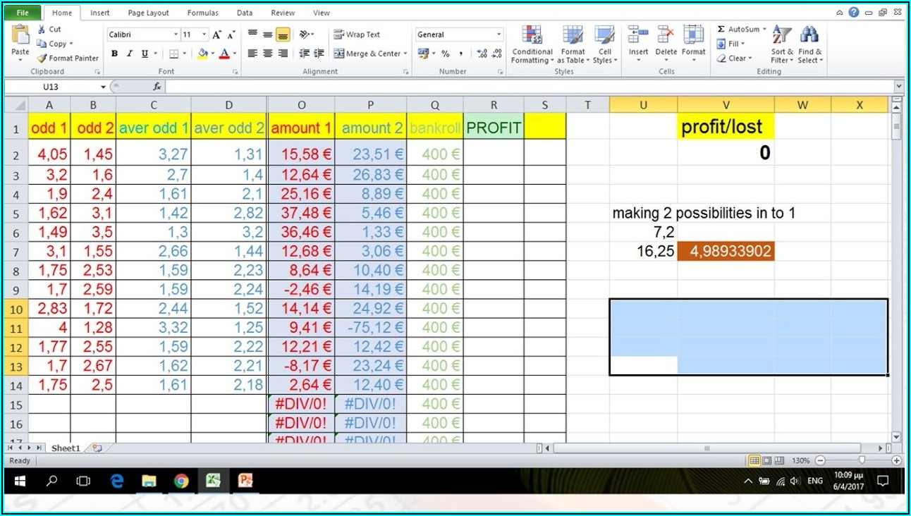 Excel Spreadsheet Templates For Sports