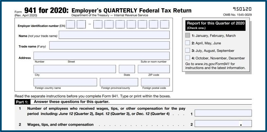Federal Income Tax Forms 941