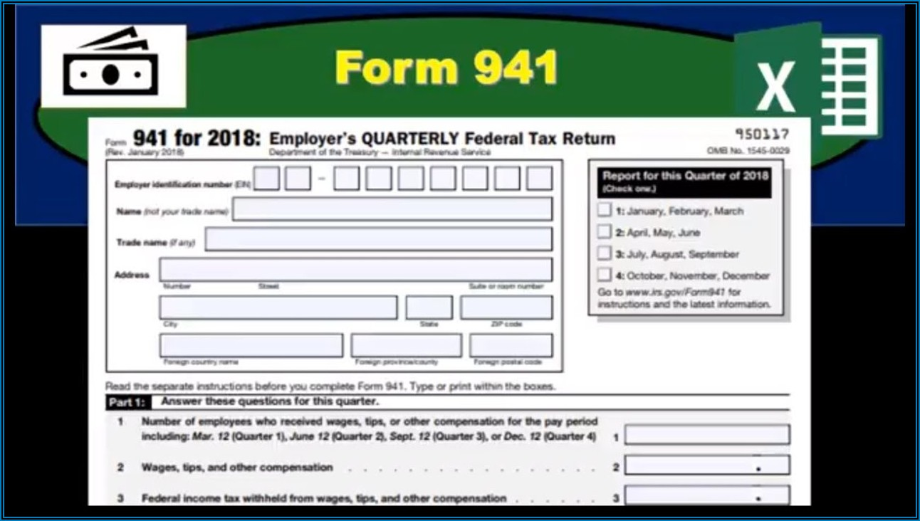 Federal Tax Form 941 For 2018
