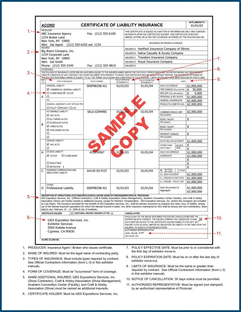 Fillable Acord Form 140
