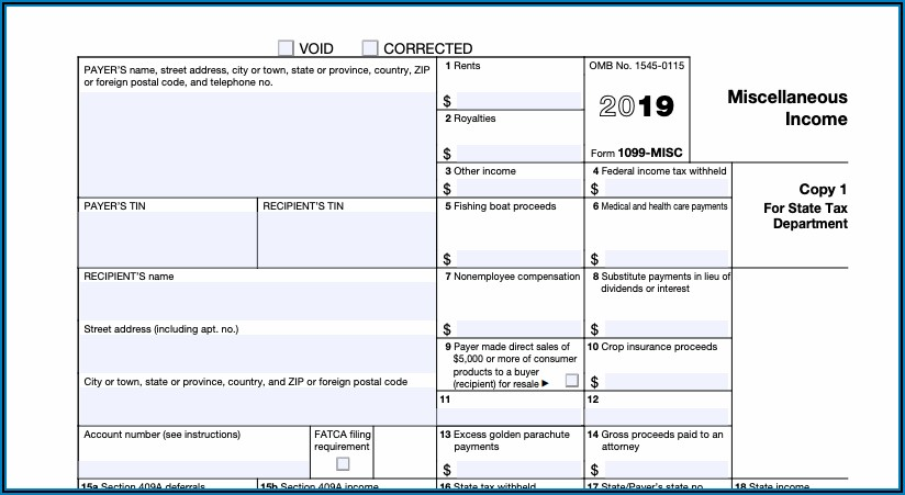 Filling Out 1099 Tax Form