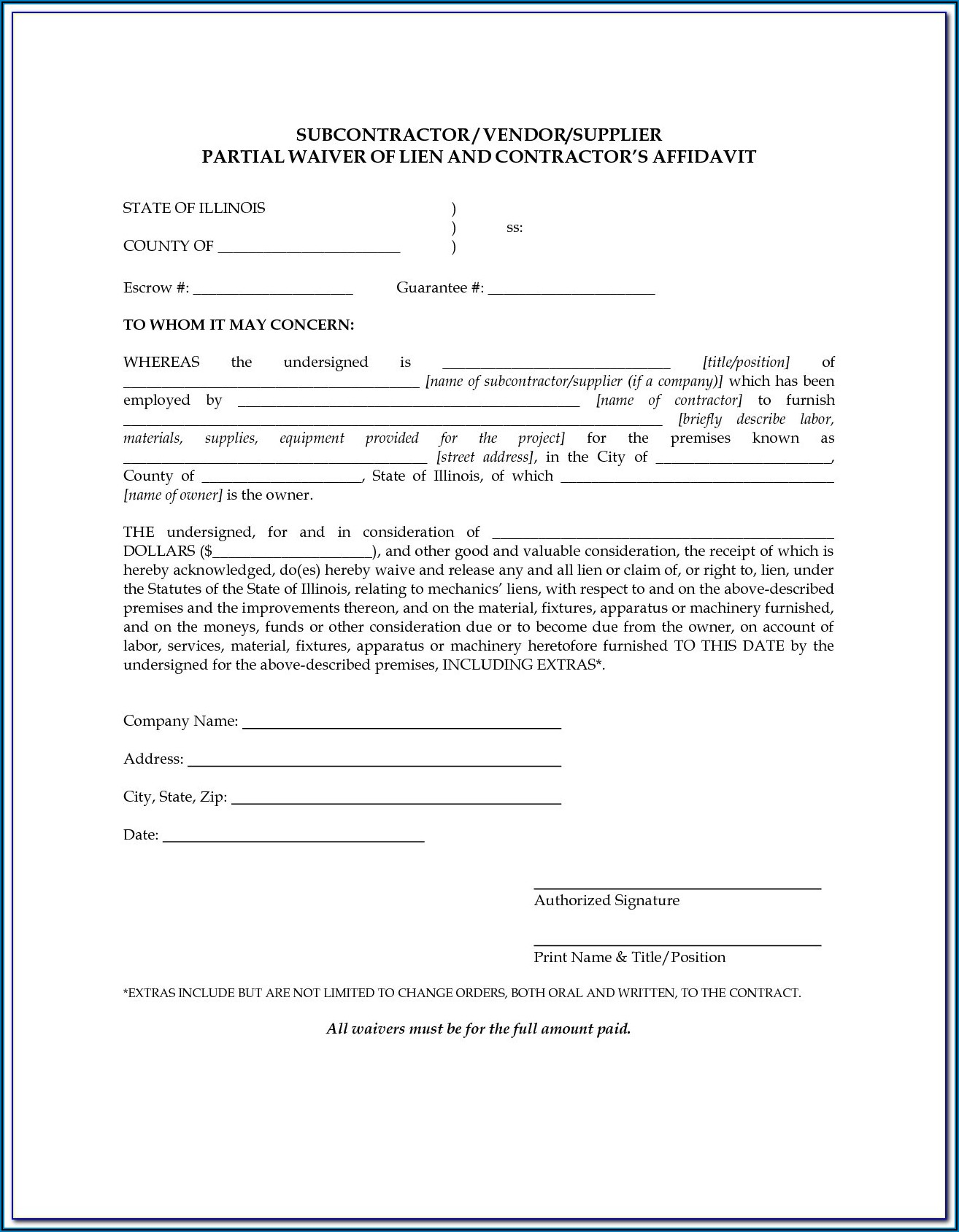 Florida Discharge Of Mechanics Lien Form