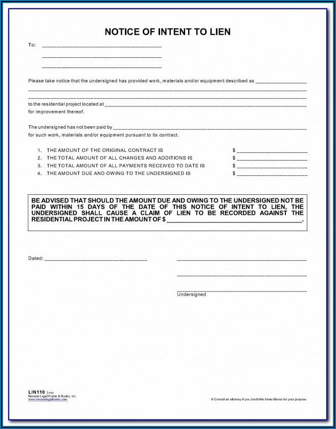 Florida Lien Form 82139