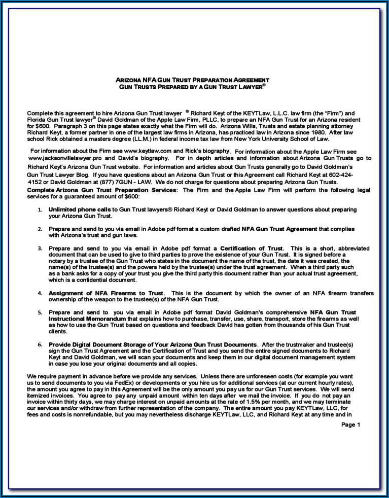 Florida Nfa Gun Trust Form