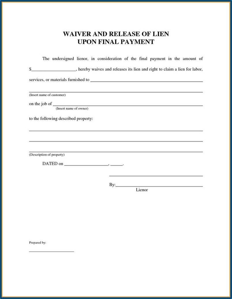 Florida Property Lien Forms