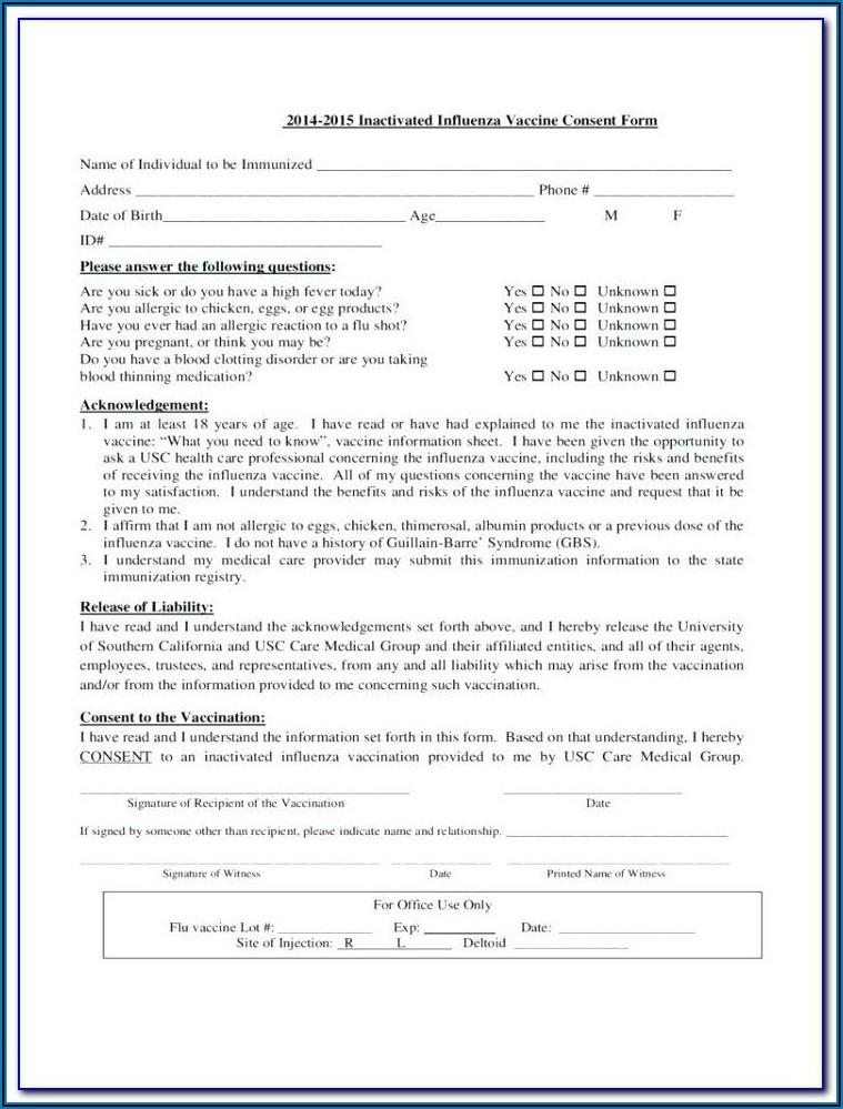 Flu Shot Verification Form 2019