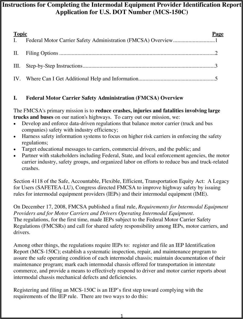 Fmcsa Chassis Inspection Form