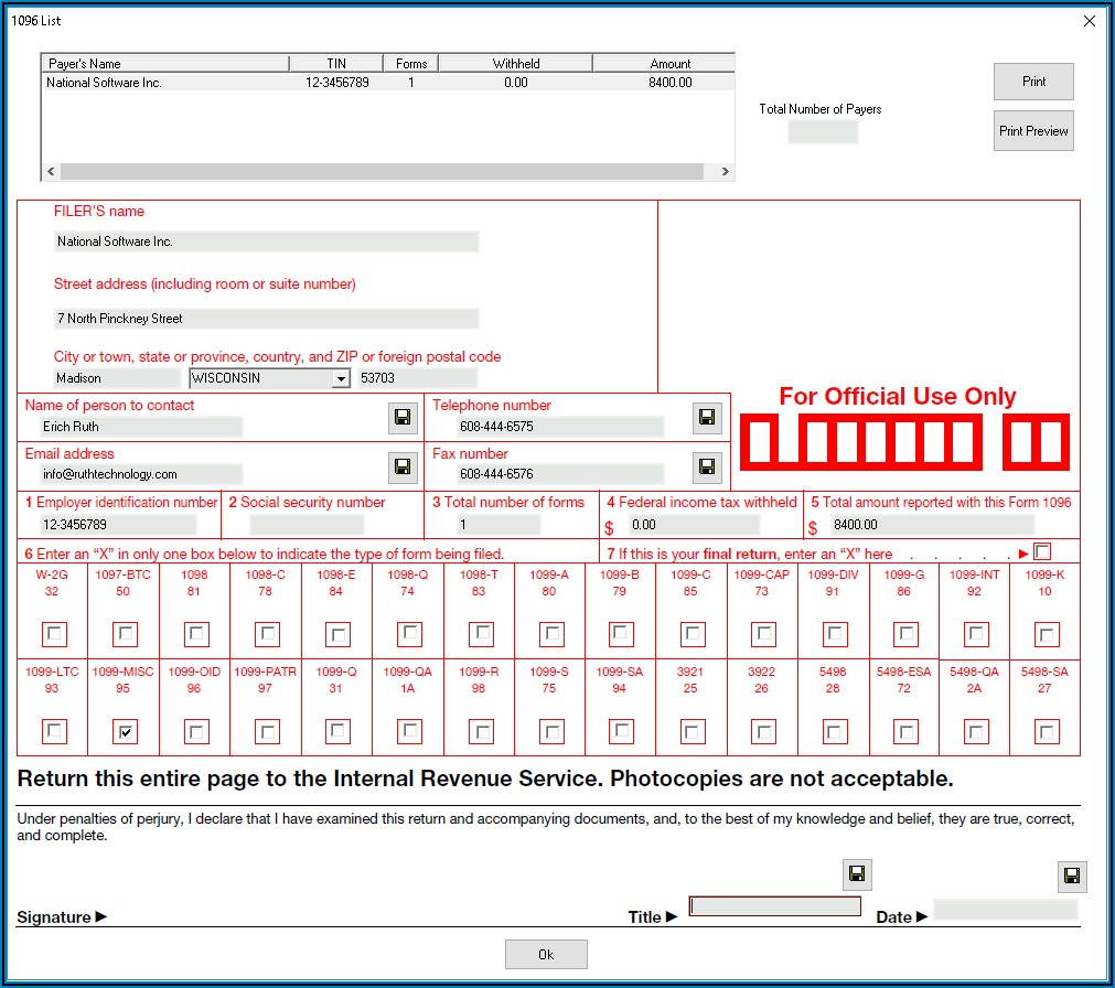 Form 1099 Software