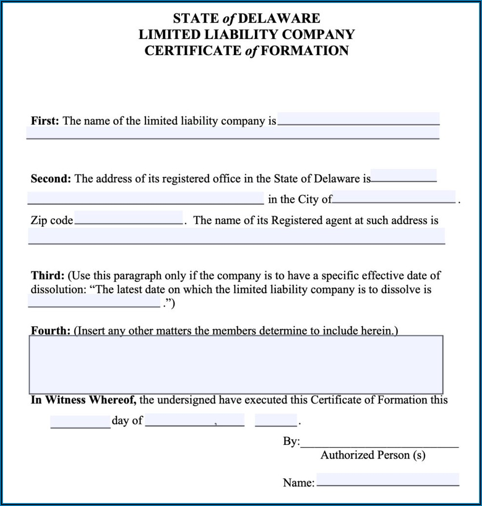 Forming A Incorporation In Delaware