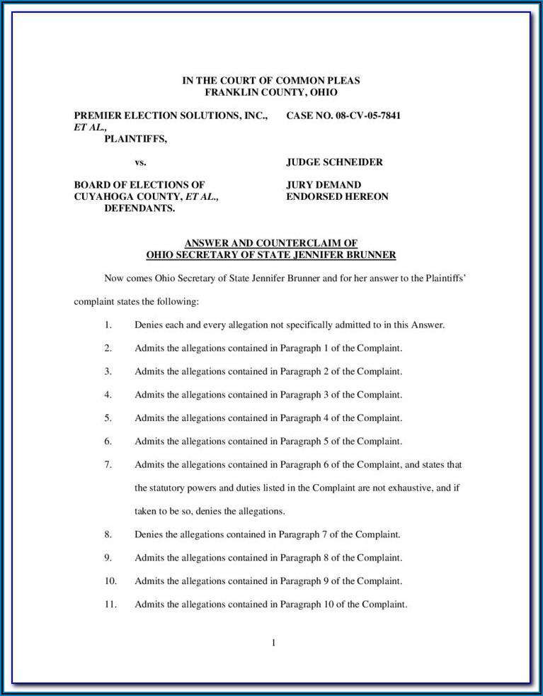 Franklin County Ohio Divorce Forms