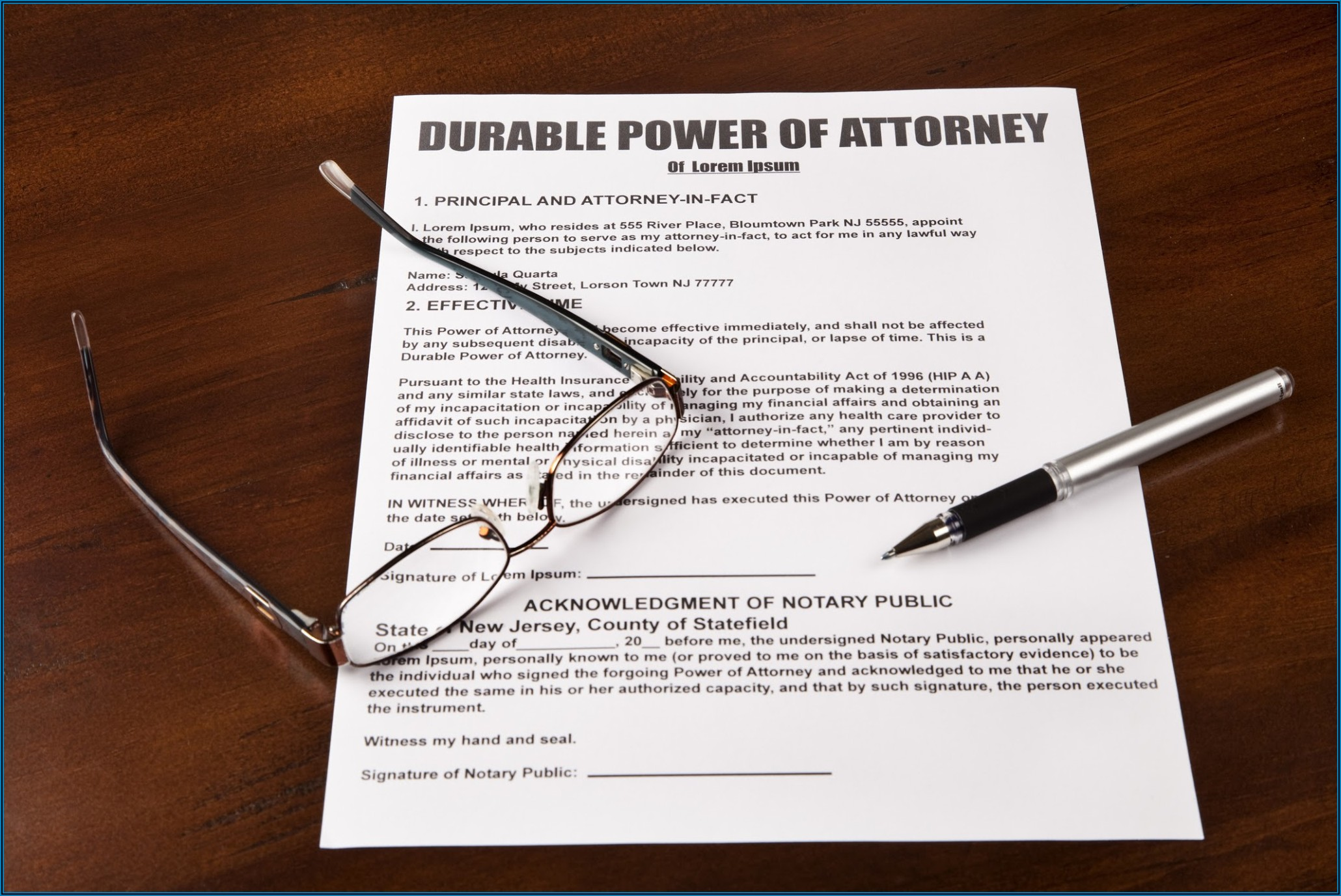 Free Blank Durable Power Of Attorney Form
