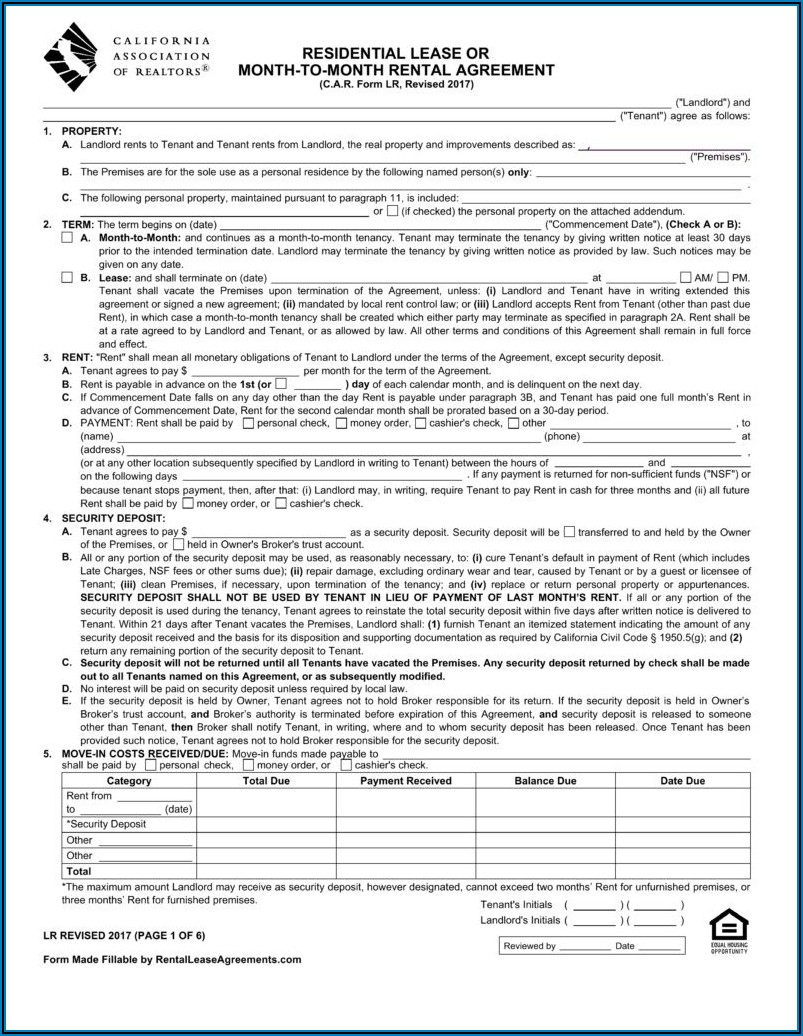 Free California Commercial Lease Agreement Form