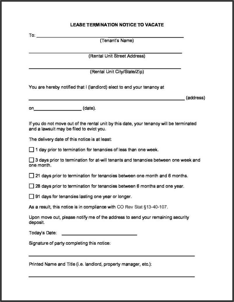 Free Colorado Eviction Notice Form