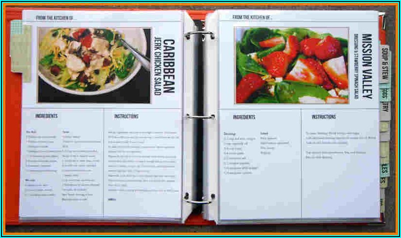 Free Cookbook Templates