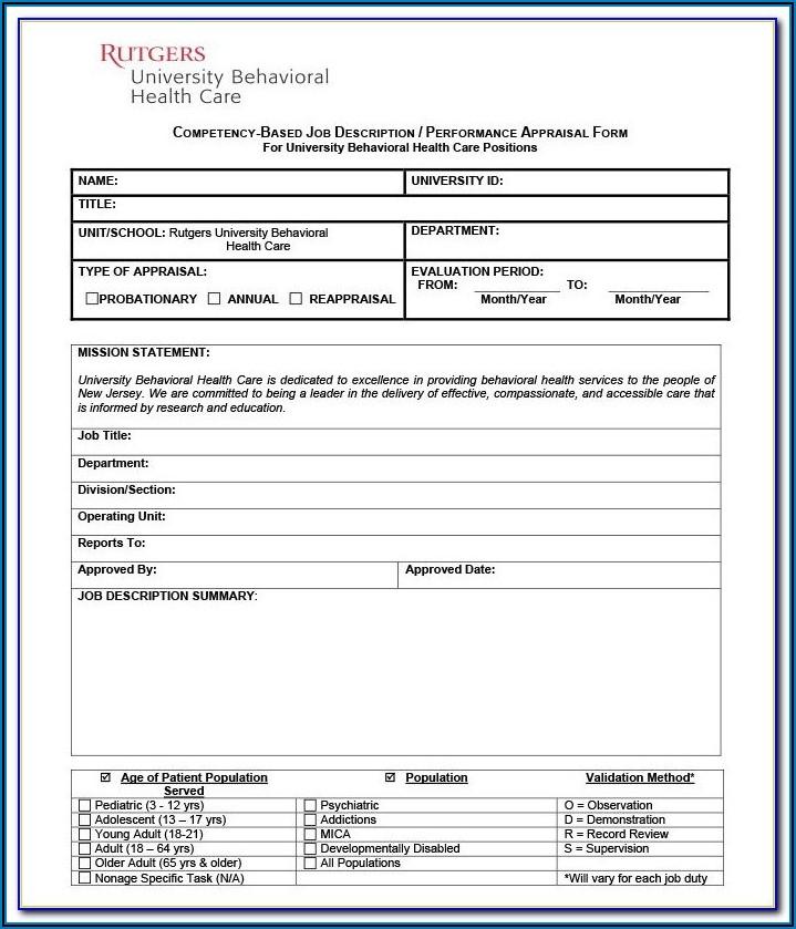 Free Employee Appraisal Form Template