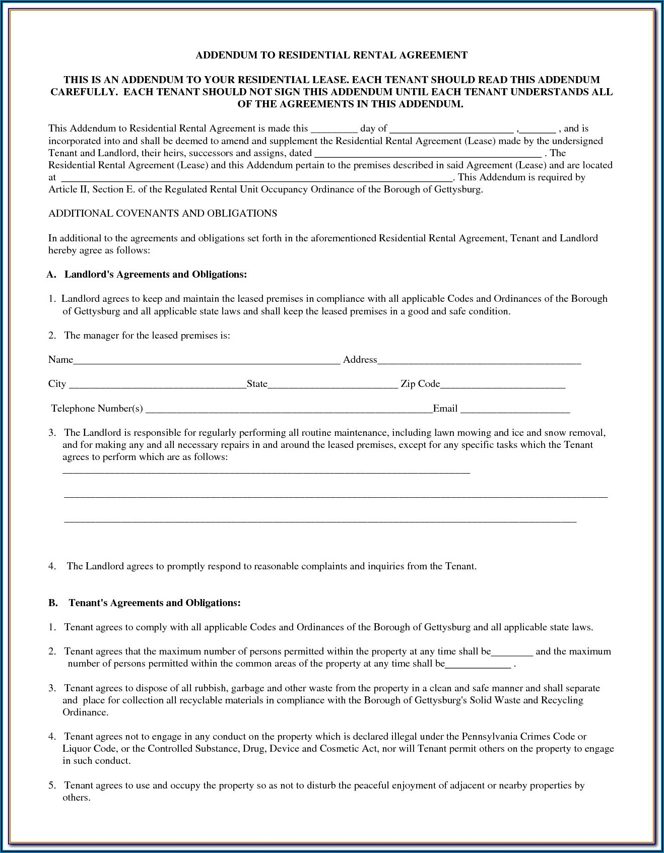 Free Farm Land Lease Agreement Forms To Print