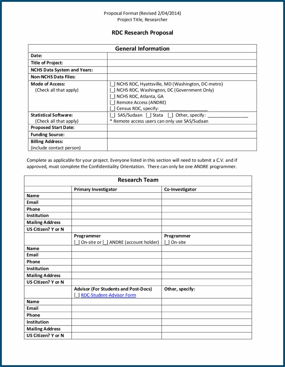 Free Fillable Proposal Forms