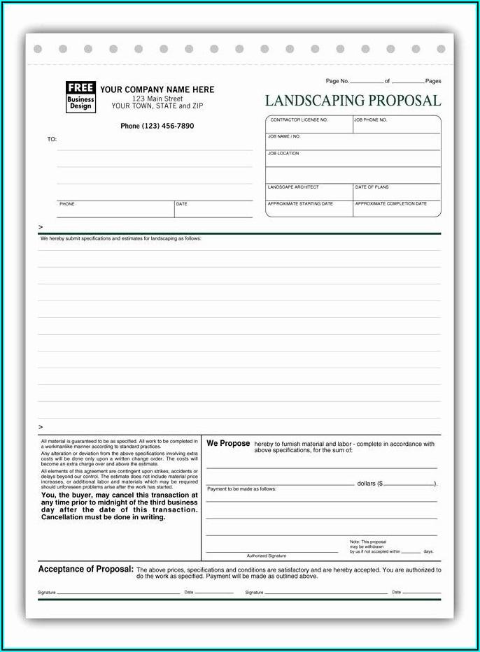 Free Landscape Proposal Template