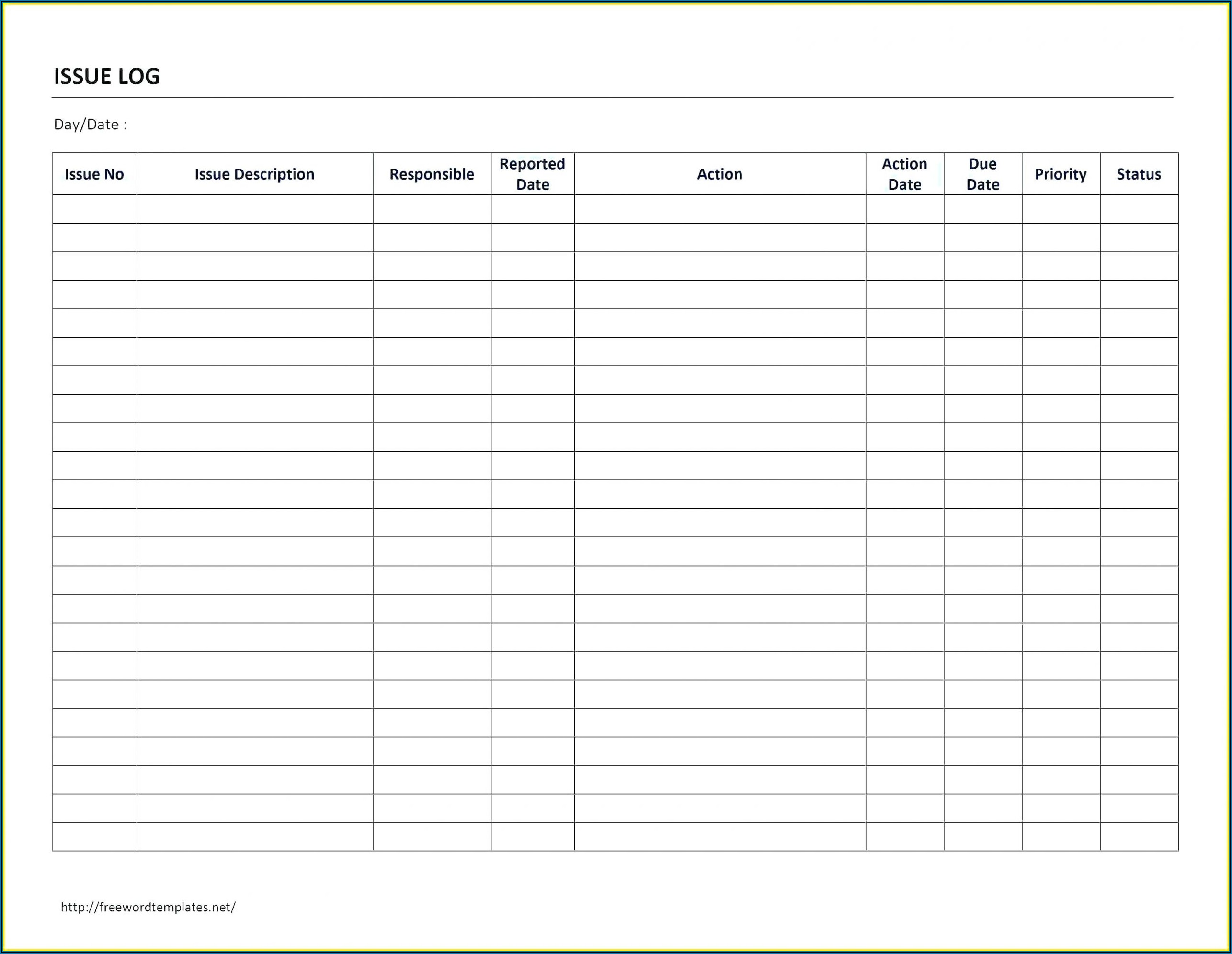 Free Mileage Log Printable