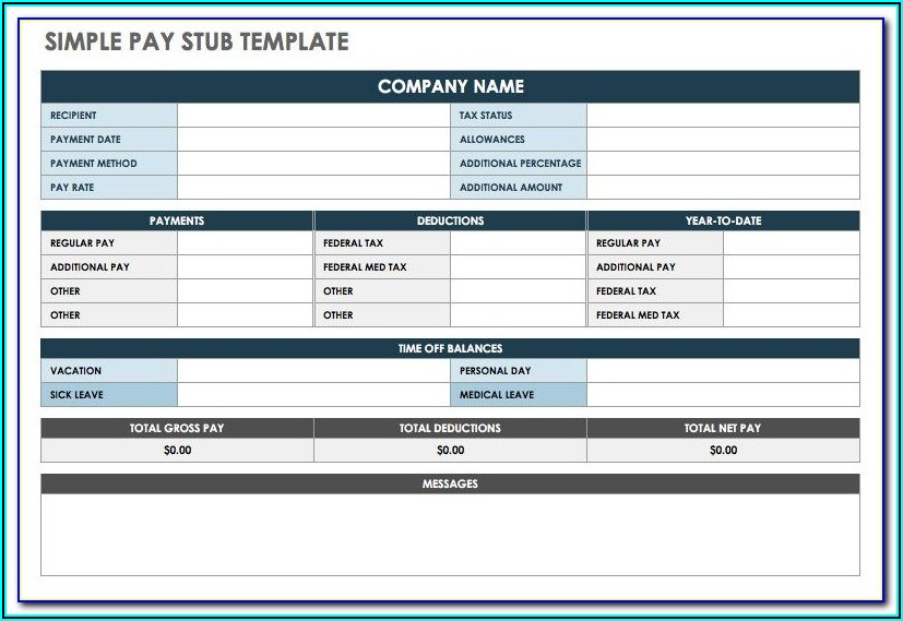 Free Pay Stub Templates Online