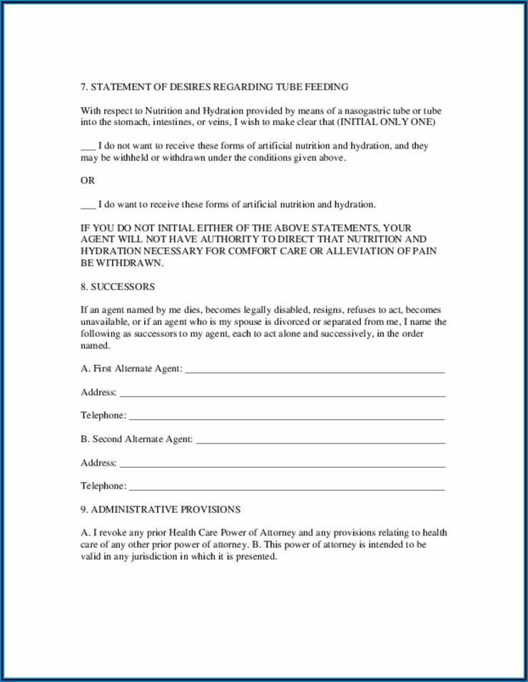 Free Power Of Attorney Form South Carolina