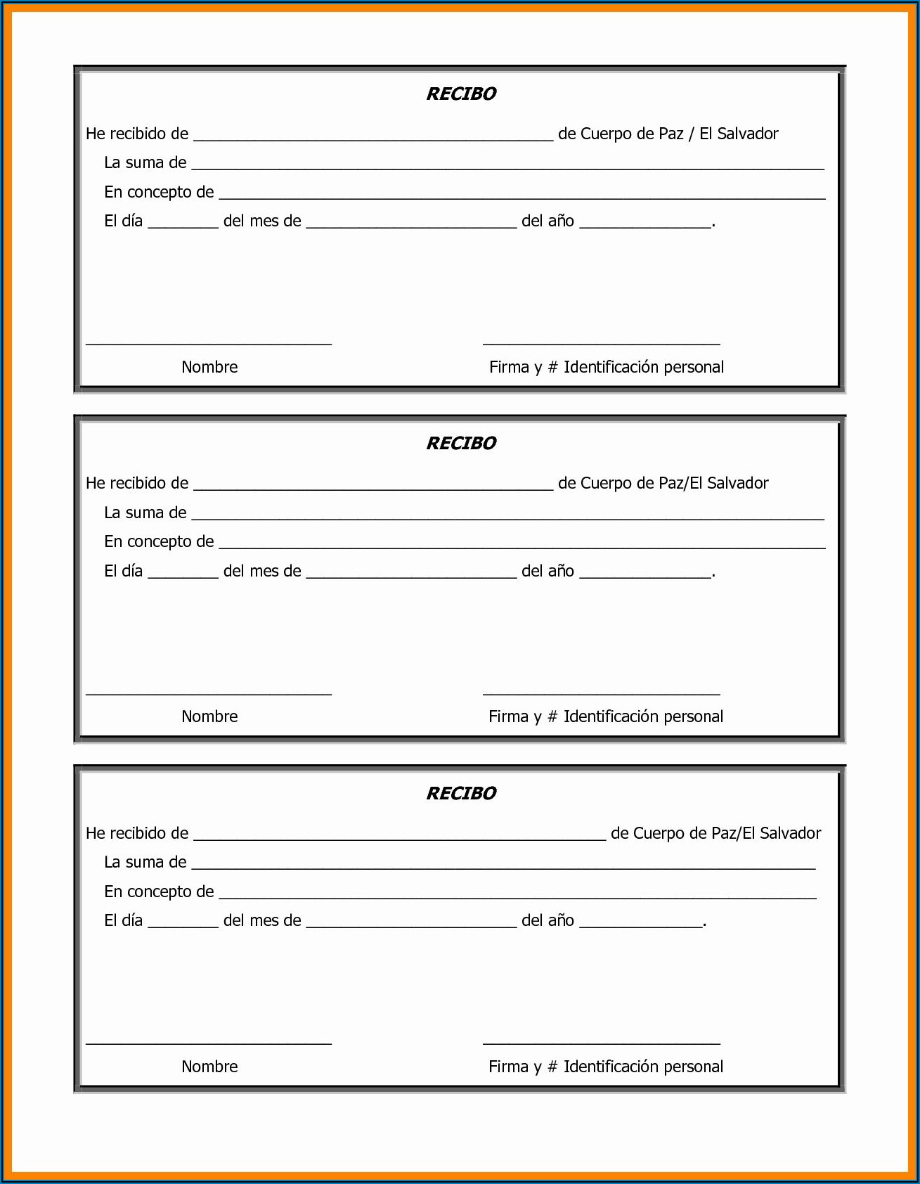 Free Printable Donation Form Template