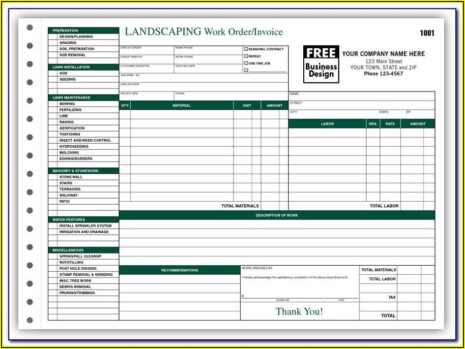 Free Printable Job Work Order Forms
