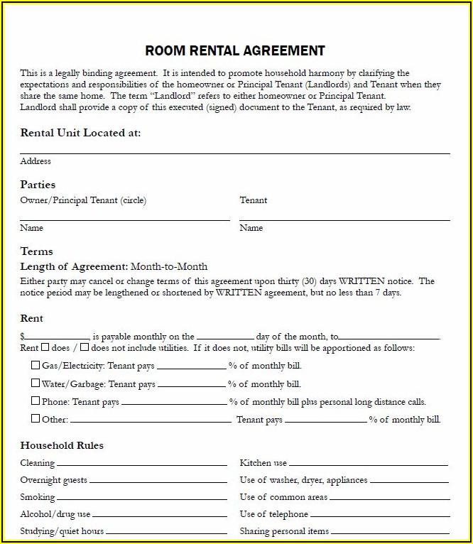 Free Rental Application Form Canada