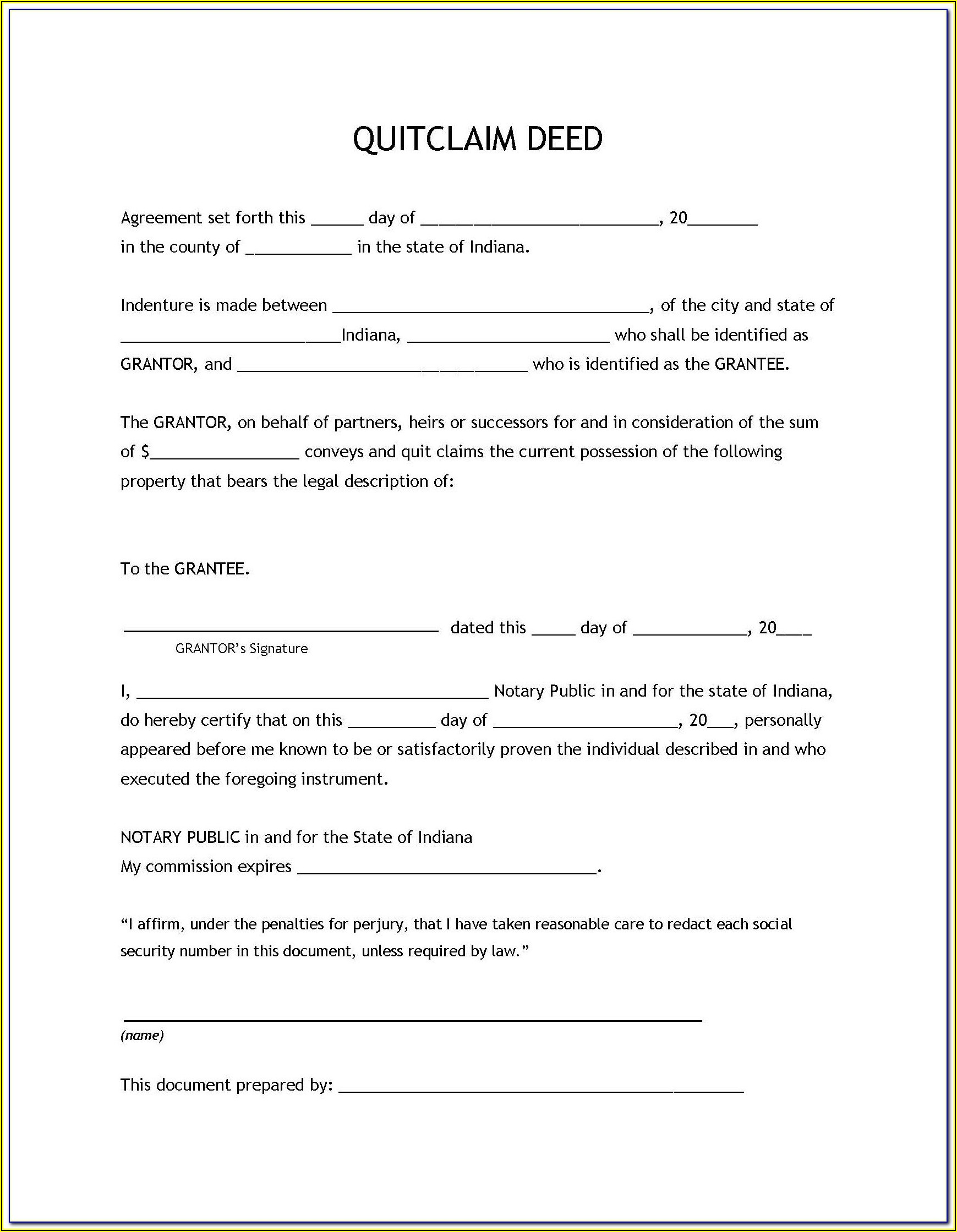 Free State Of Colorado Quit Claim Deed