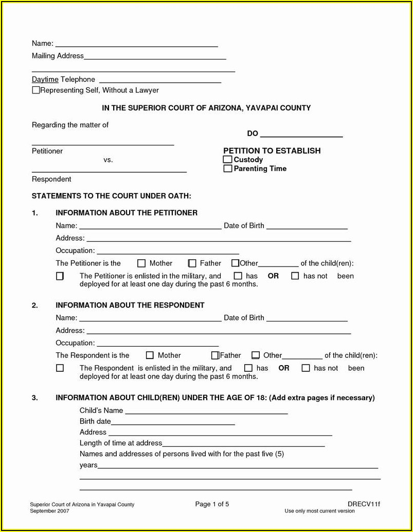 Free Temporary Guardianship Forms Texas