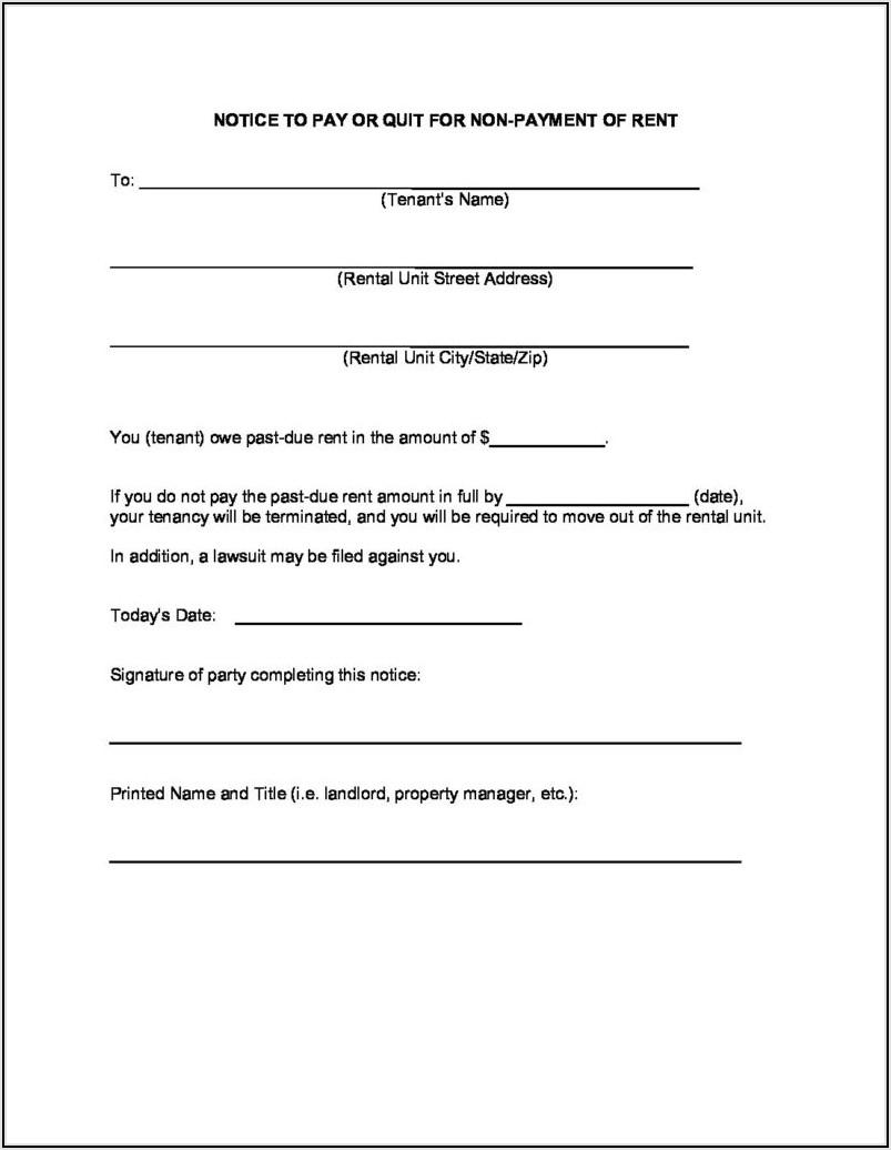 Free Tennessee Eviction Notice Form