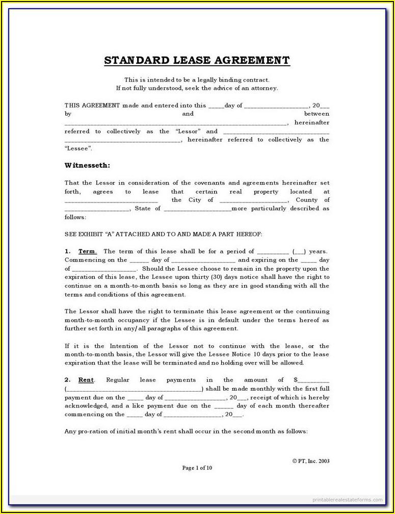Free Texas House Rental Agreement Form