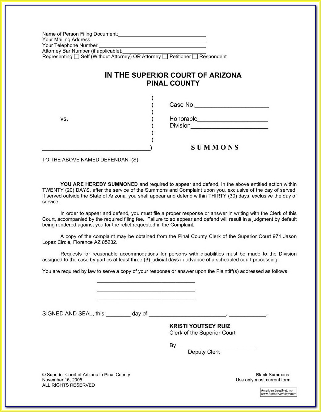 Fulton County Superior Court Divorce Filing Fee