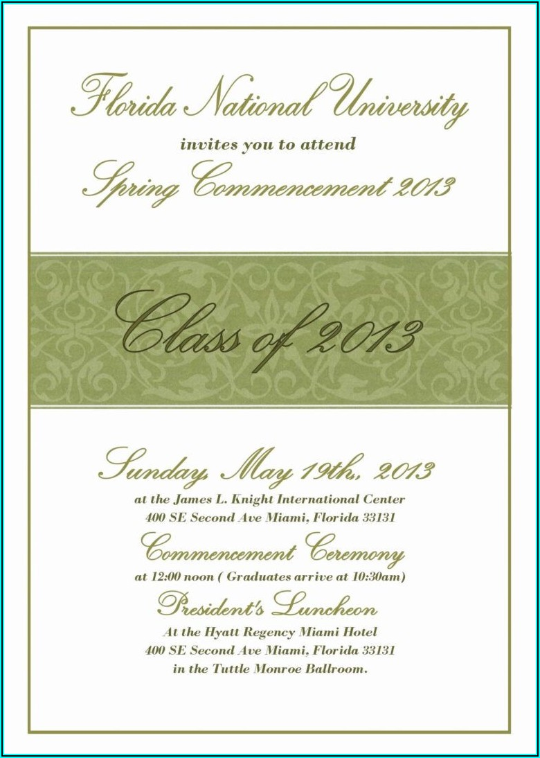 Graduation Invitations Templates For Microsoft Word