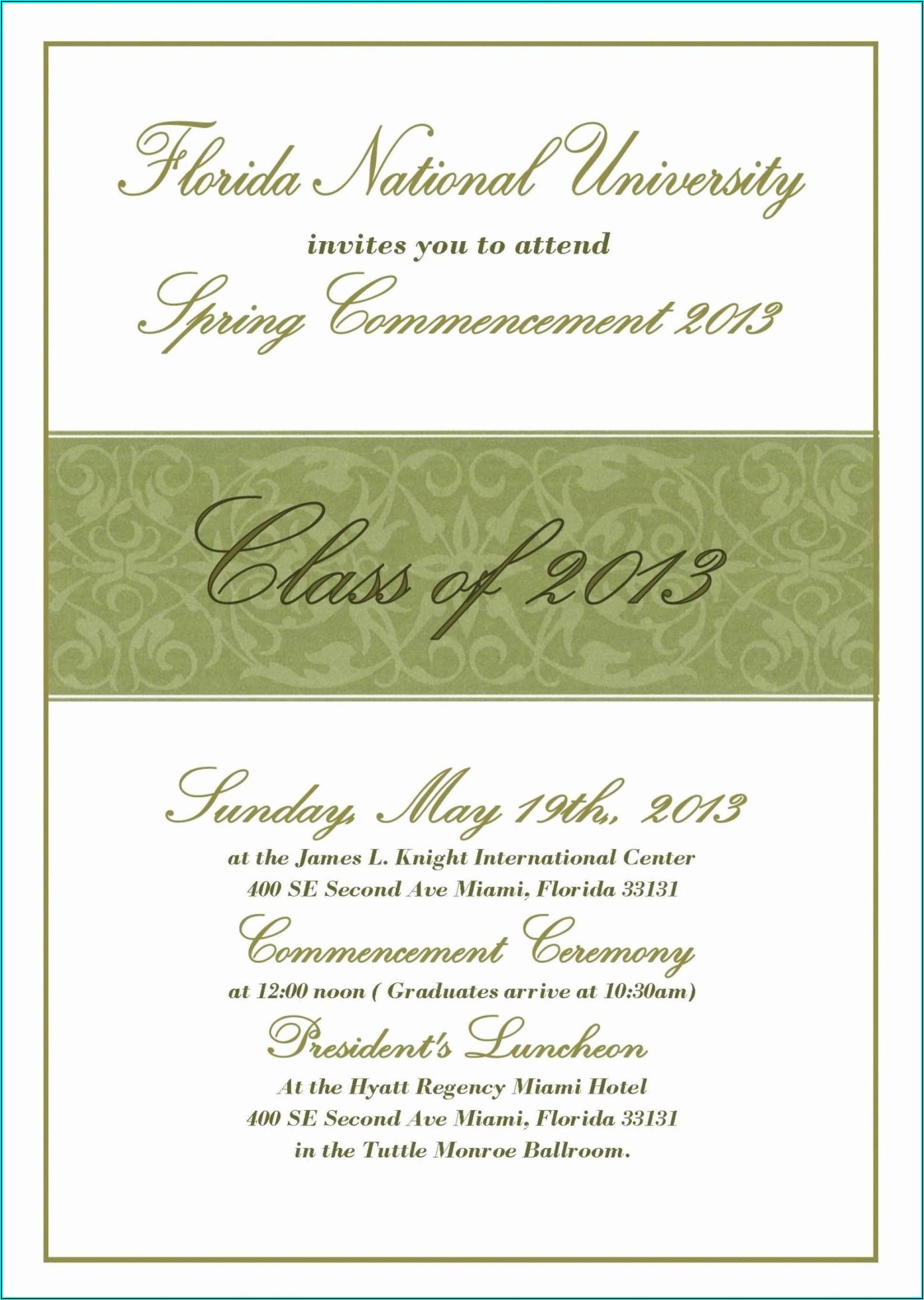 Graduation Invitations Word Templates