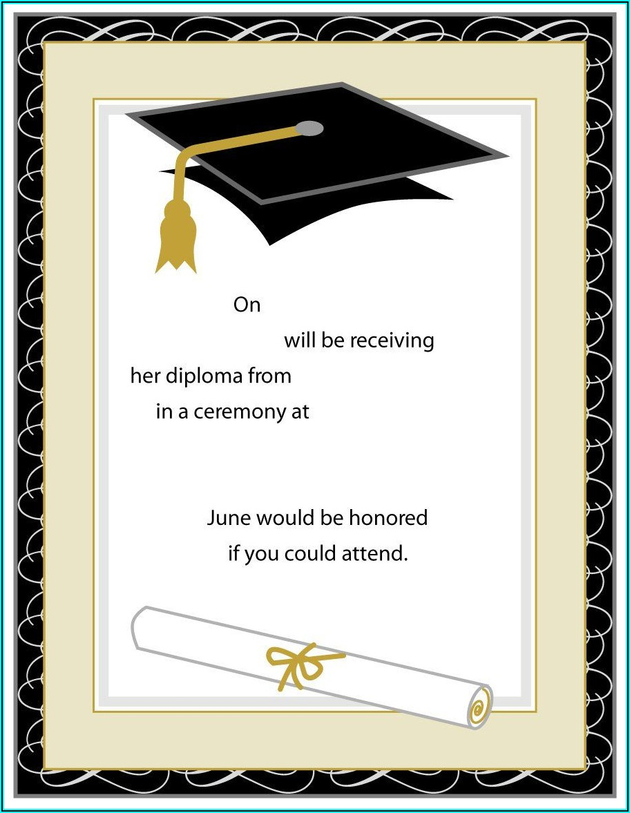 Graduation Invites Templates