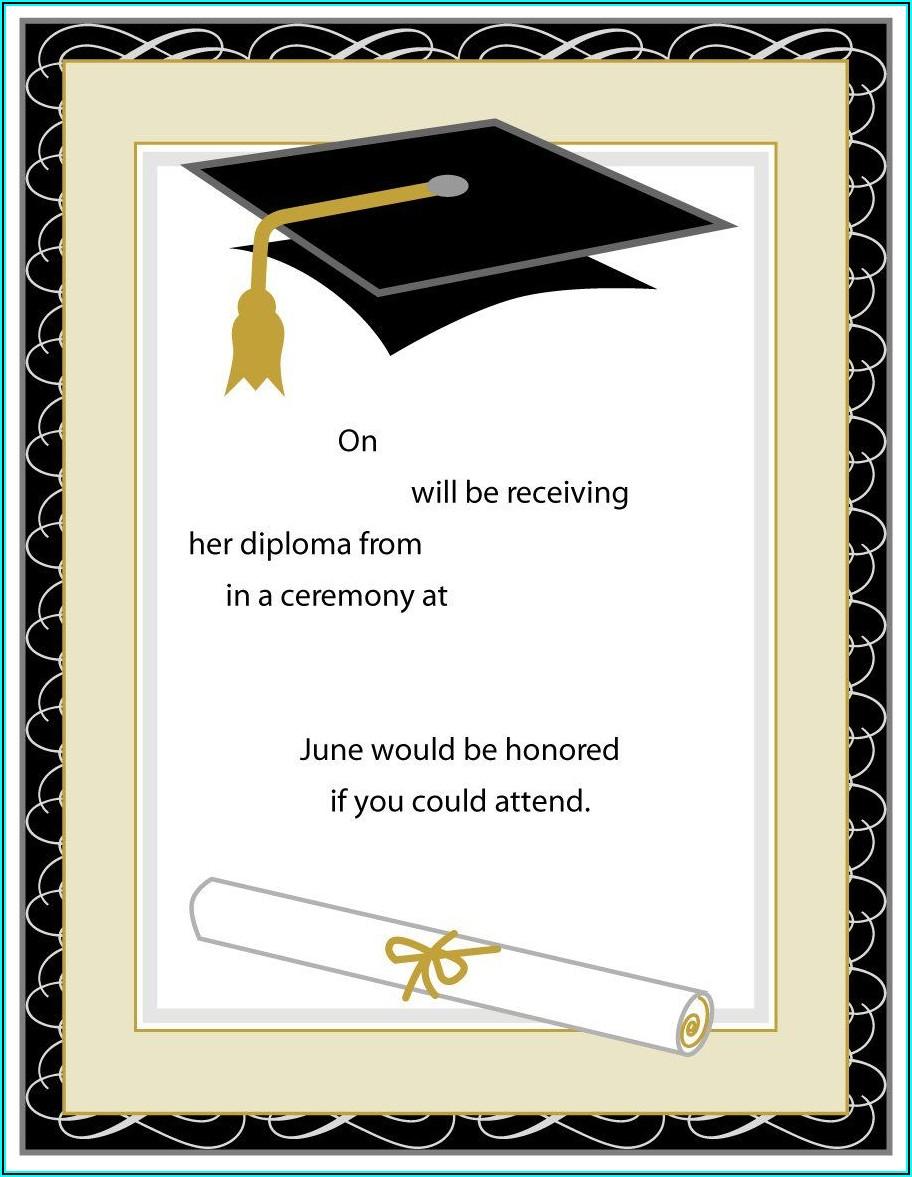 Graduation Invites Templates