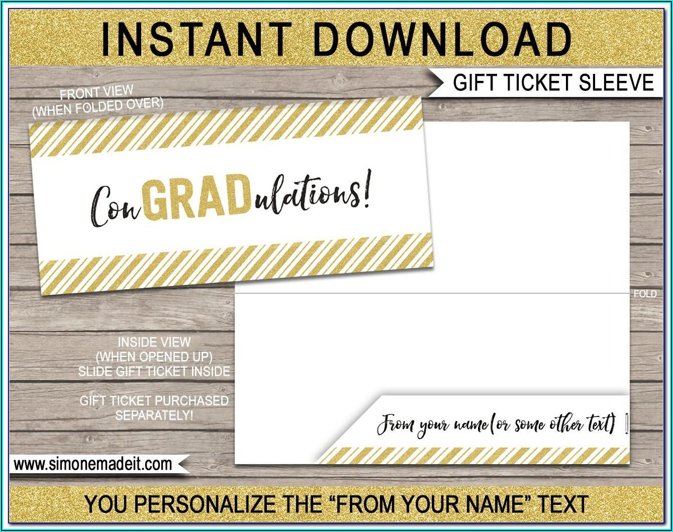 Graduation Ticket Template Free
