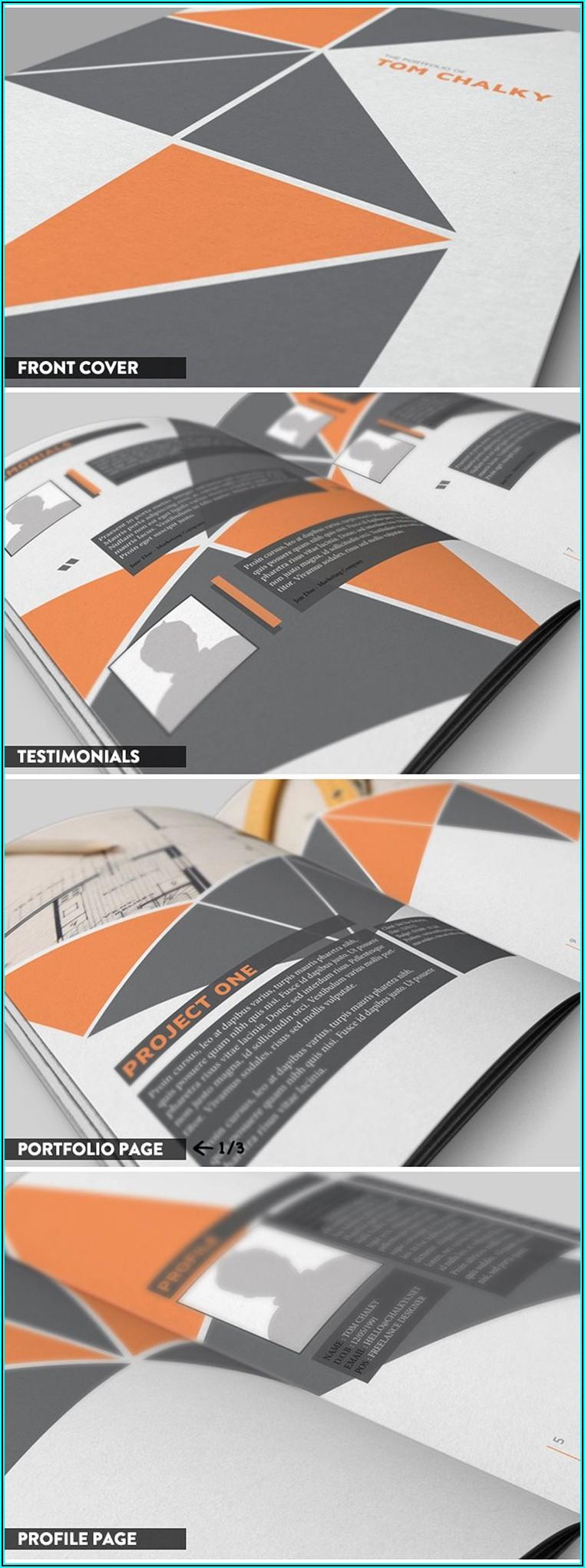 Graphic Design Portfolio Template Indesign Free Download