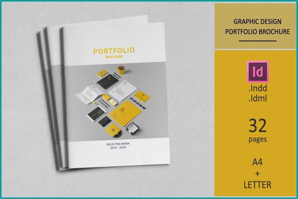 Graphic Design Portfolio Template Indesign