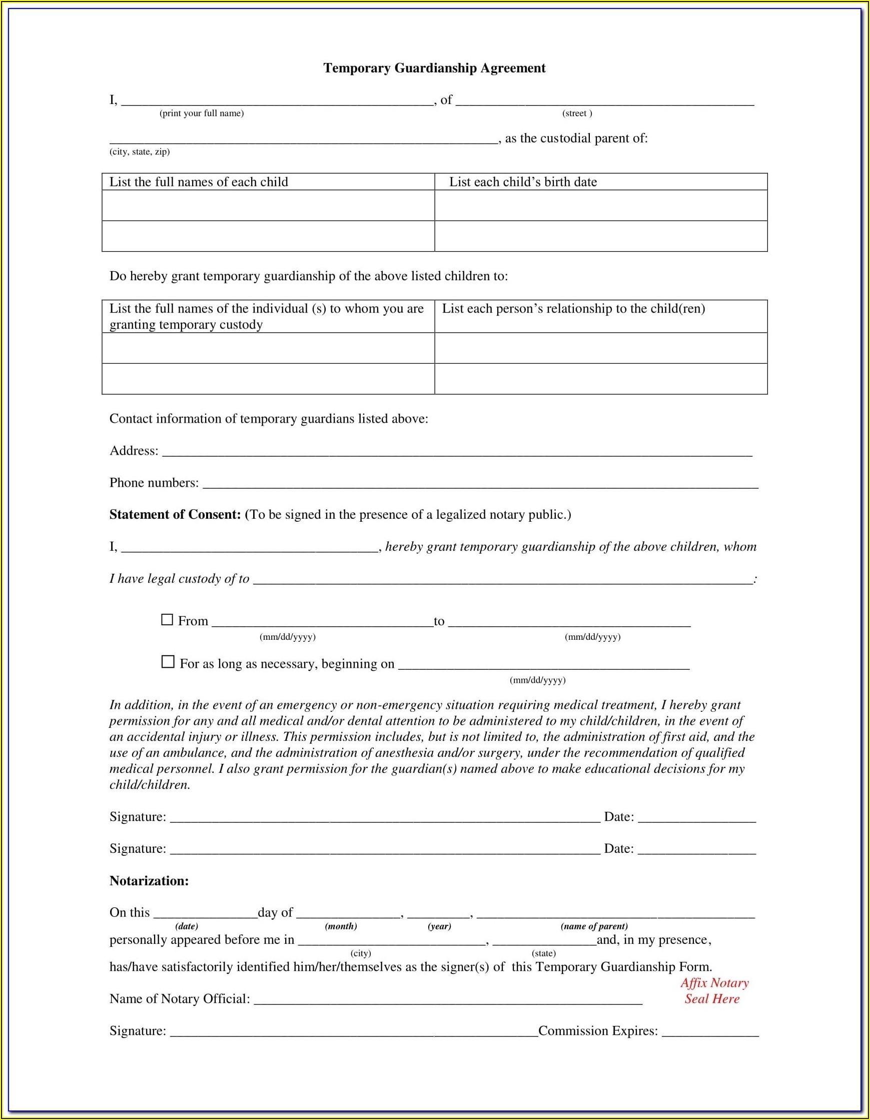 Guardianship Petition Oregon