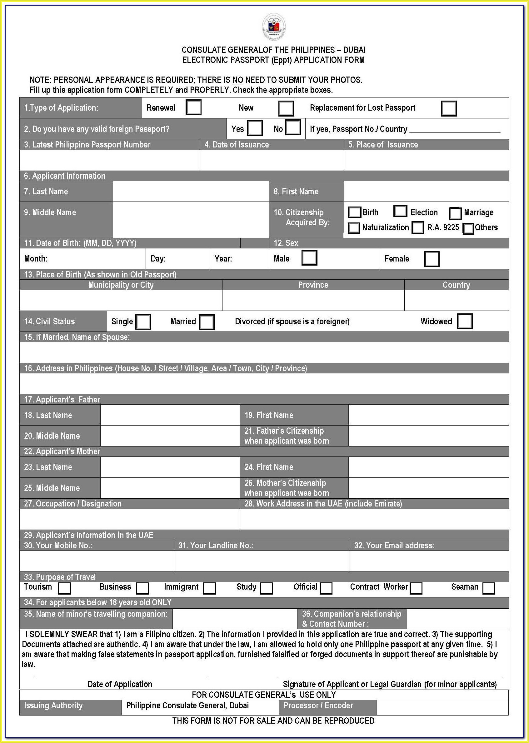 Guyana Passport Renewal Form Canada