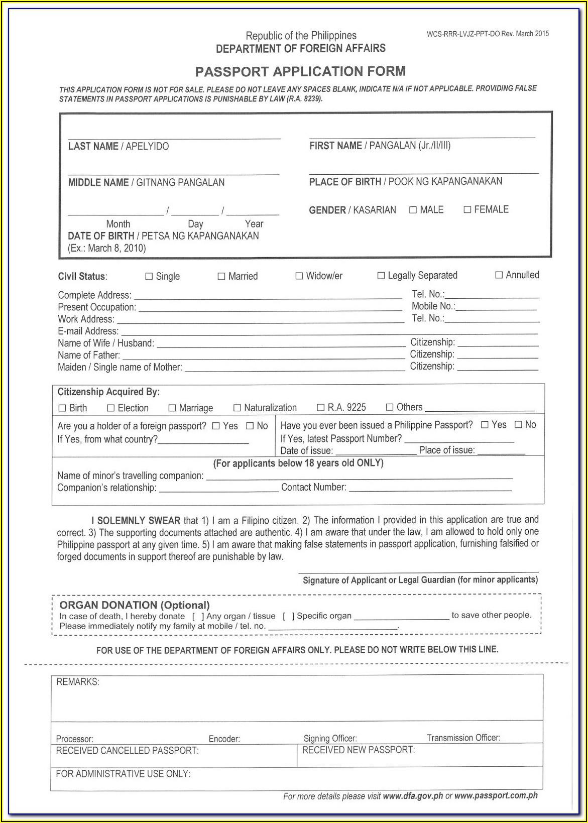 Guyana Passport Renewal Form New York